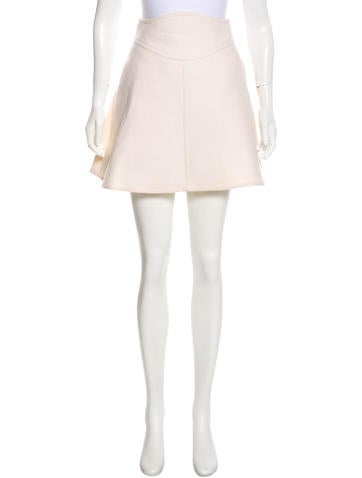 Carven Flare Wool Skirt None