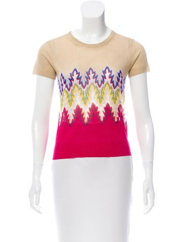 Carven Printed Knit Top None