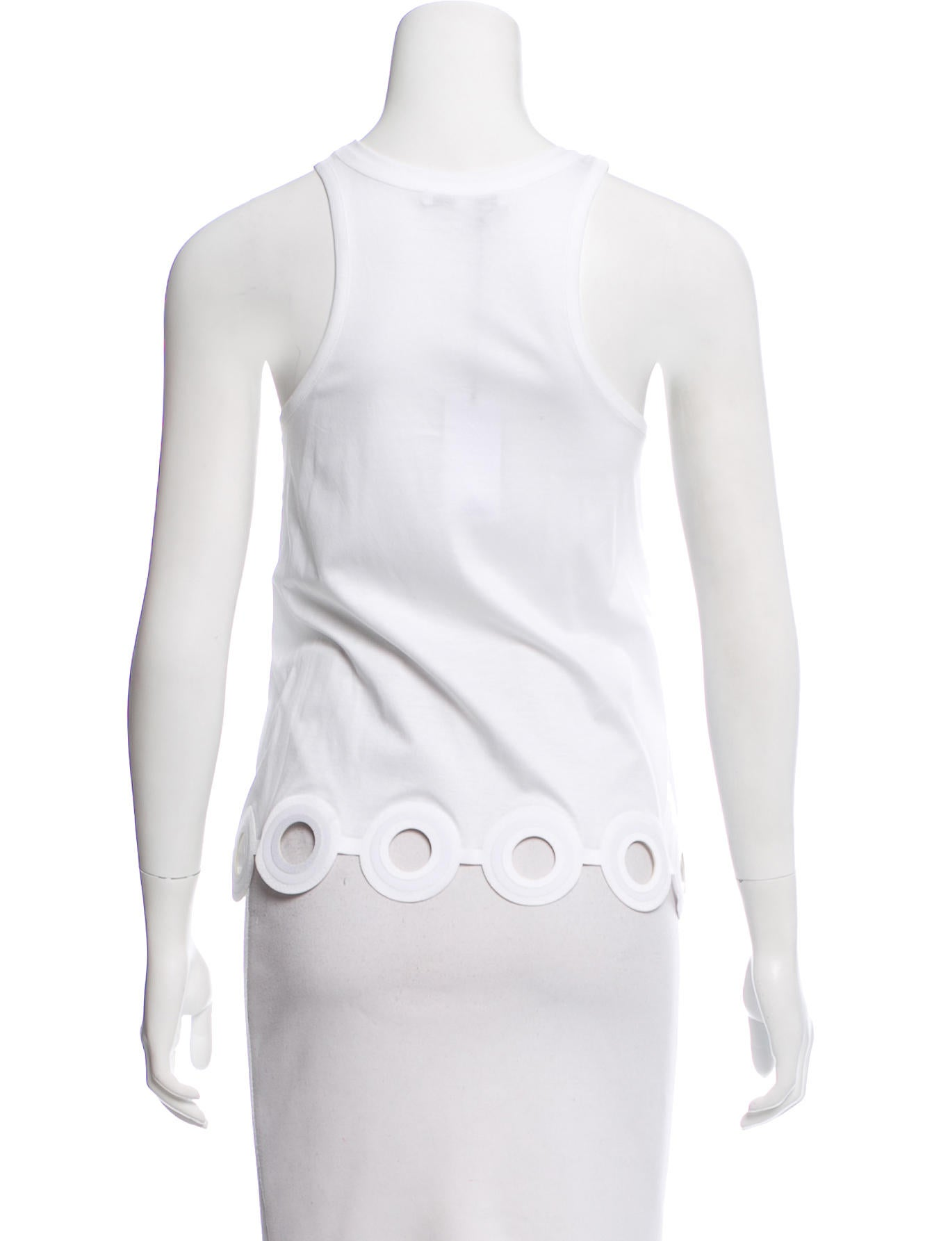 Cheap New Styles Shopping Online Carven Sleeveless Cutout Top w/ Tags BJ9lzkv