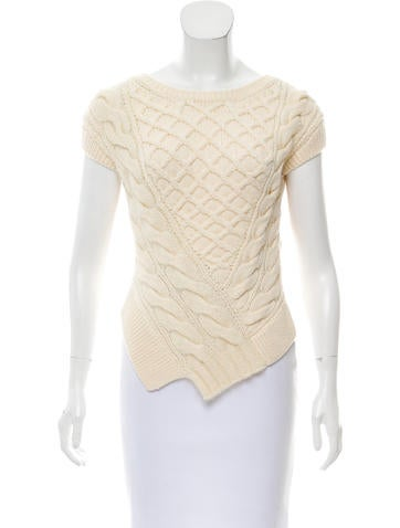 Carven Wool Cable Knit Top None