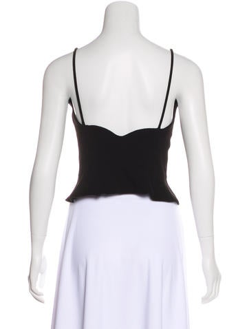Sleeveless Scallop-Trimmed Top