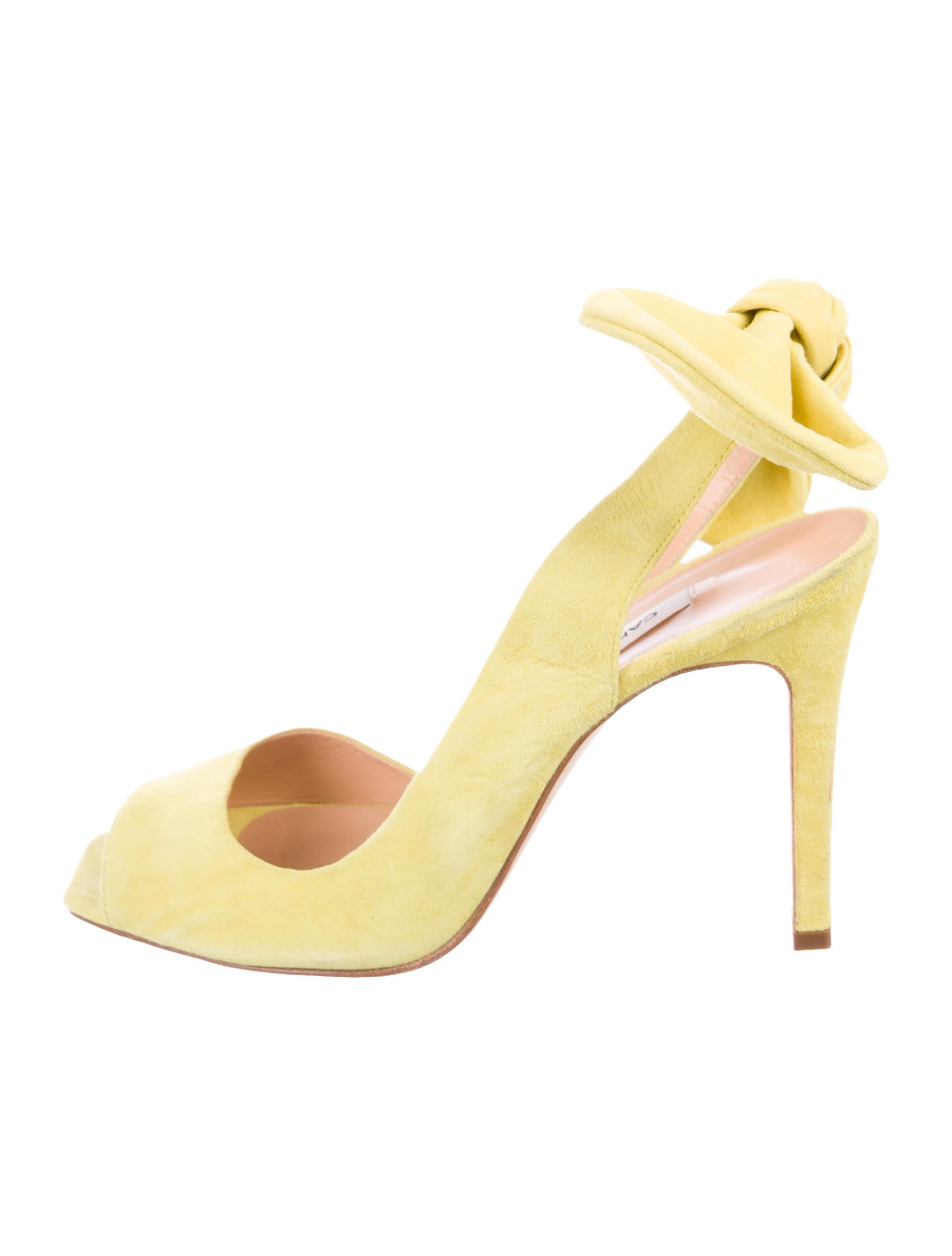 Carven Suede Peep-Toe Pumps cheap sale with mastercard buy cheap finishline uVcki