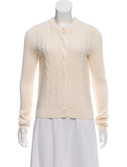 Carven Wool Cable Knit Cardigan wool
