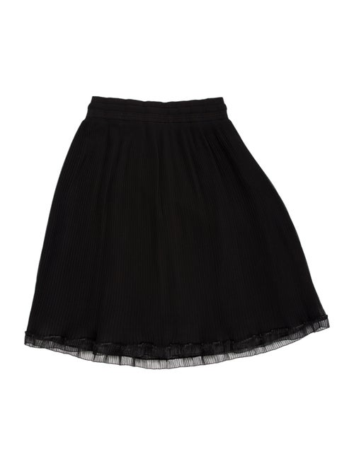 Carven Pleated Accents Mini Skirt Black