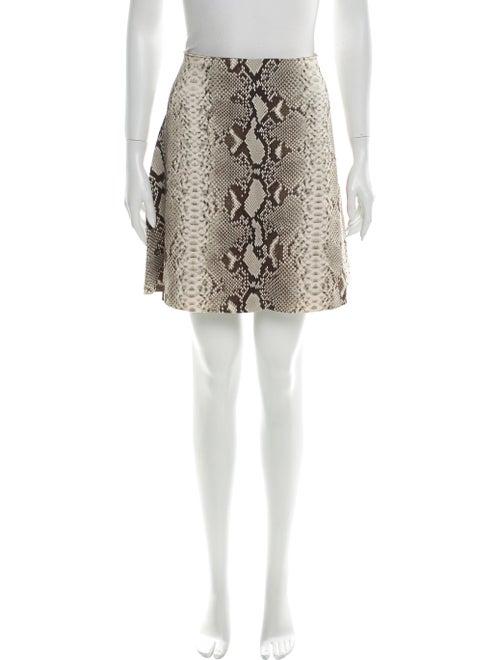 Carven Animal Print Mini Skirt Brown