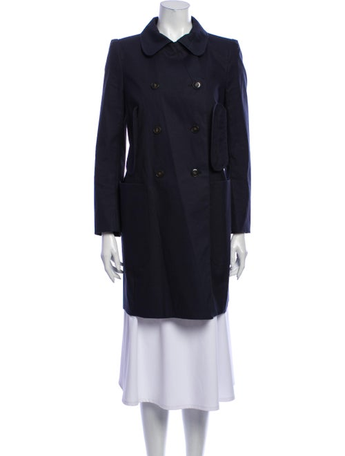 Carven Trench Coat Blue