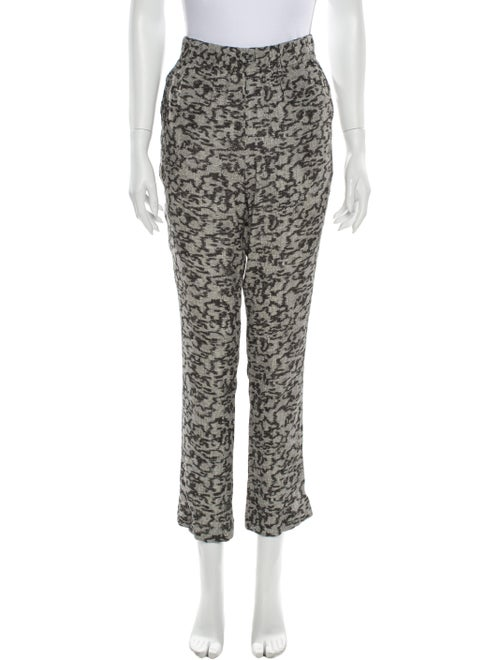 Carven Animal Print Straight Leg Pants w/ Tags Gre