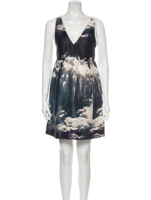 Carven Linen Mini Dress White