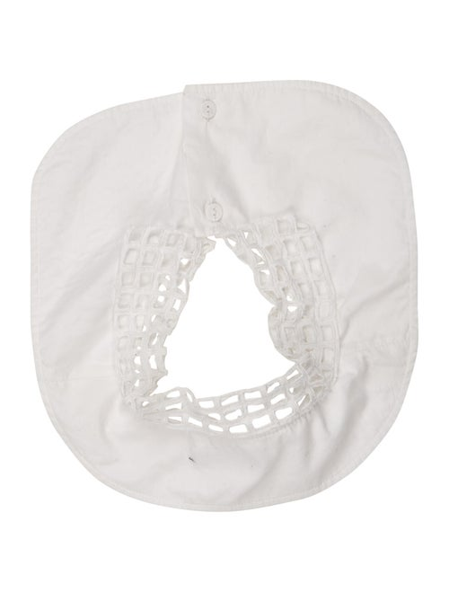 Carven Lace Button Collar White - image 1
