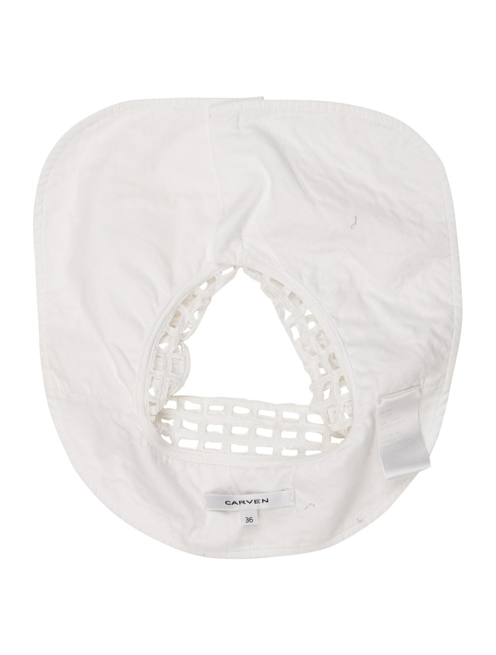 Carven Lace Button Collar White - image 2