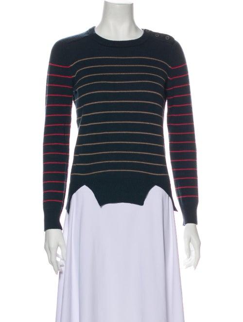 Carven Wool Striped Sweater Wool
