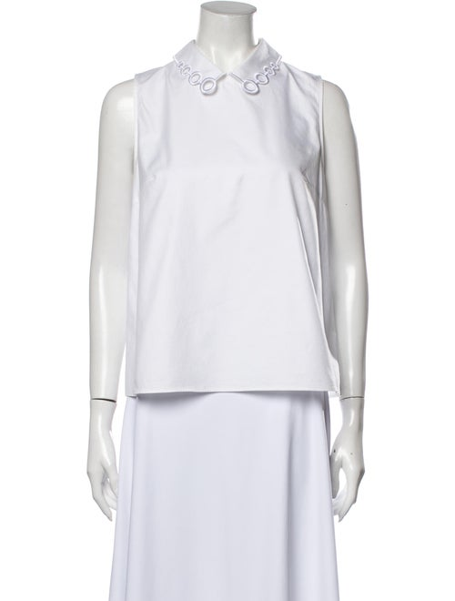 Carven Sleeveless Top White