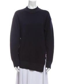 Carven Wool Mock Neck Sweater