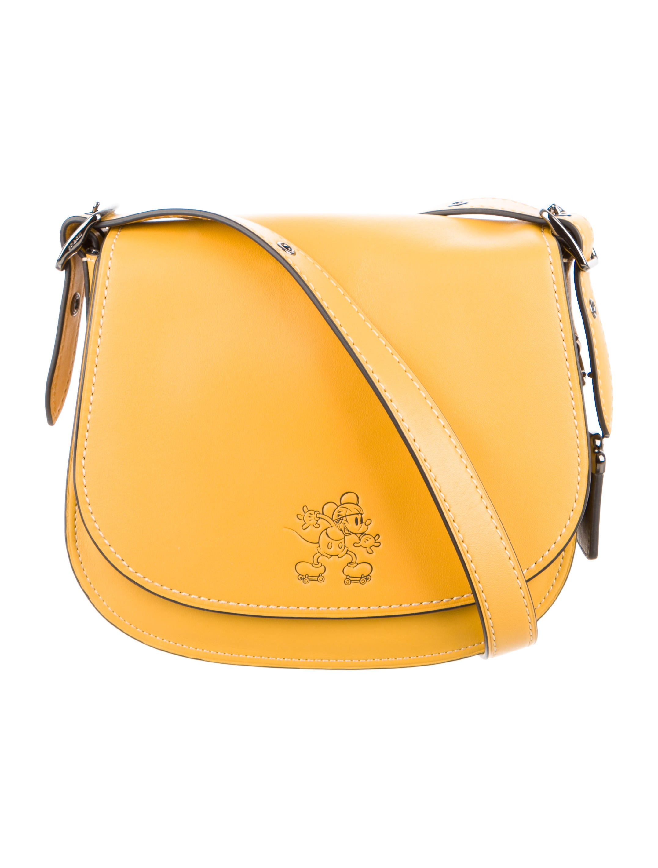 foldover logo shoulder bag - Yellow & Orange Coach Sw3o1