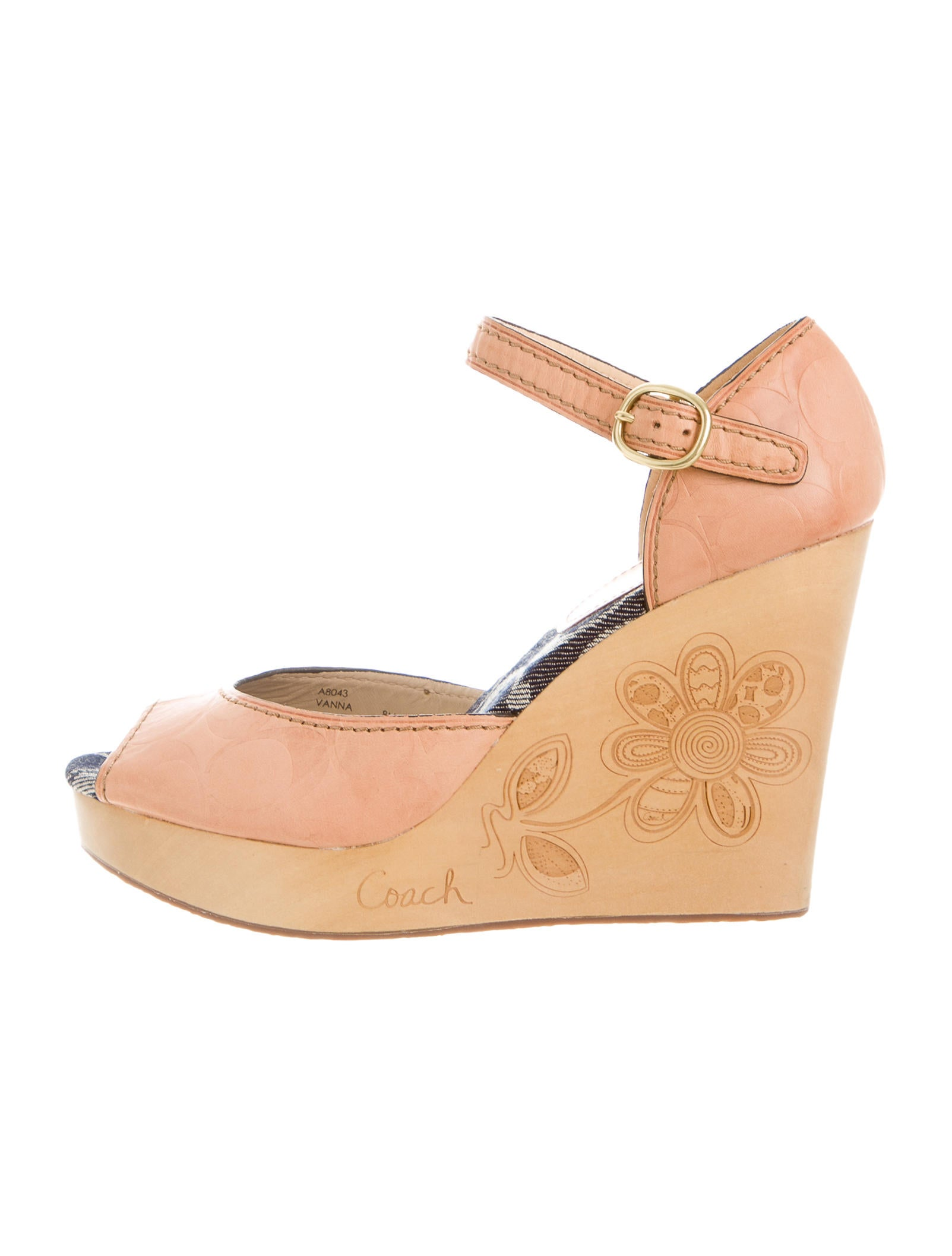 coach monogram vanna wedges shoes cch20343 the realreal