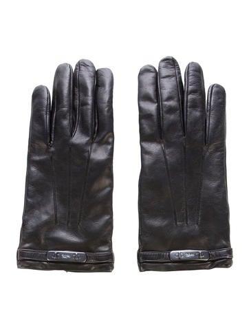 Coach Logo-Embellished Leather Gloves None