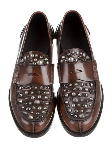 Coach Studded Penny Loafers - Shoes - CCH20561 | The RealReal