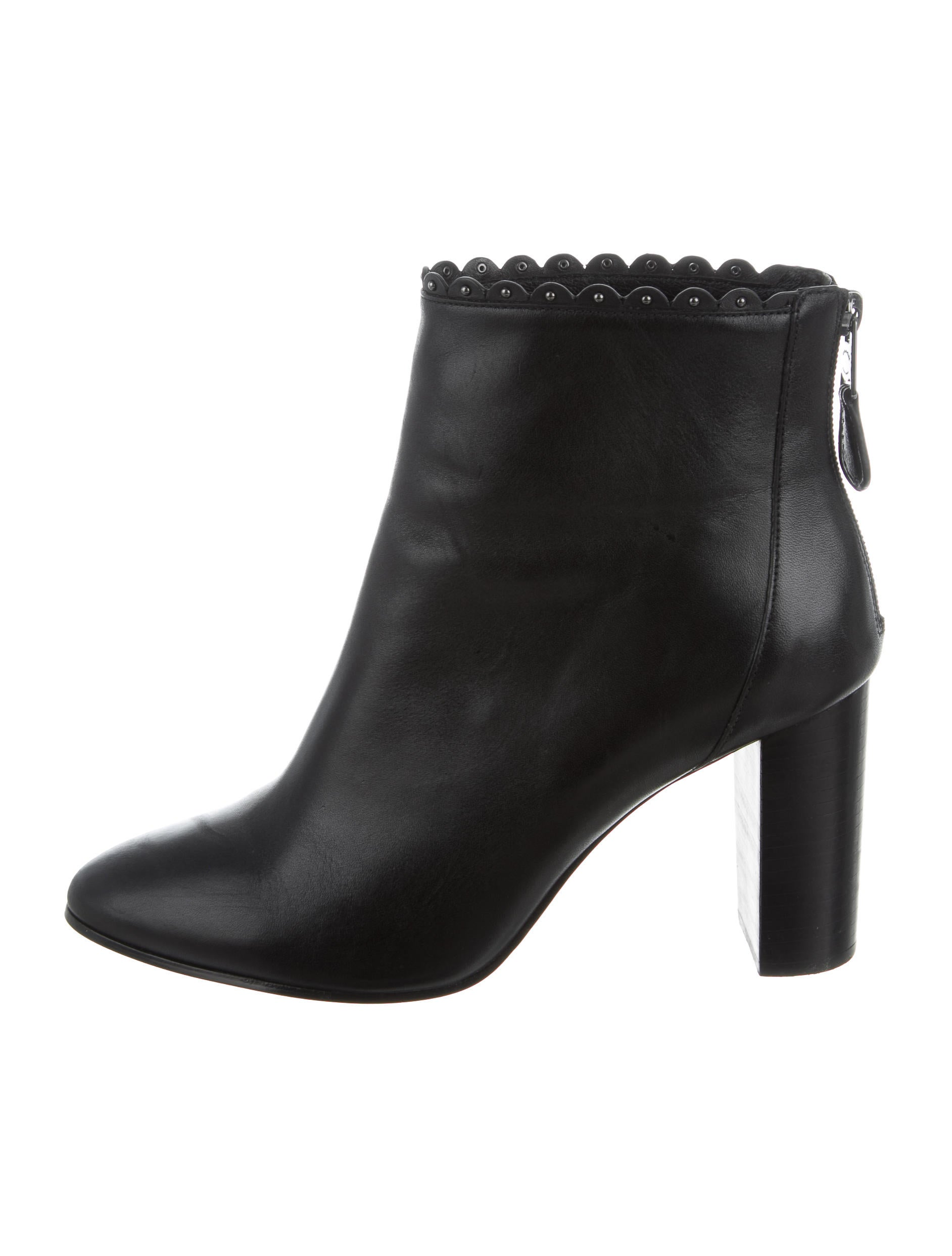 coach leather ankle boots shoes cch20660 the realreal
