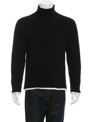 Coach Wool Rib Knit Sweater None