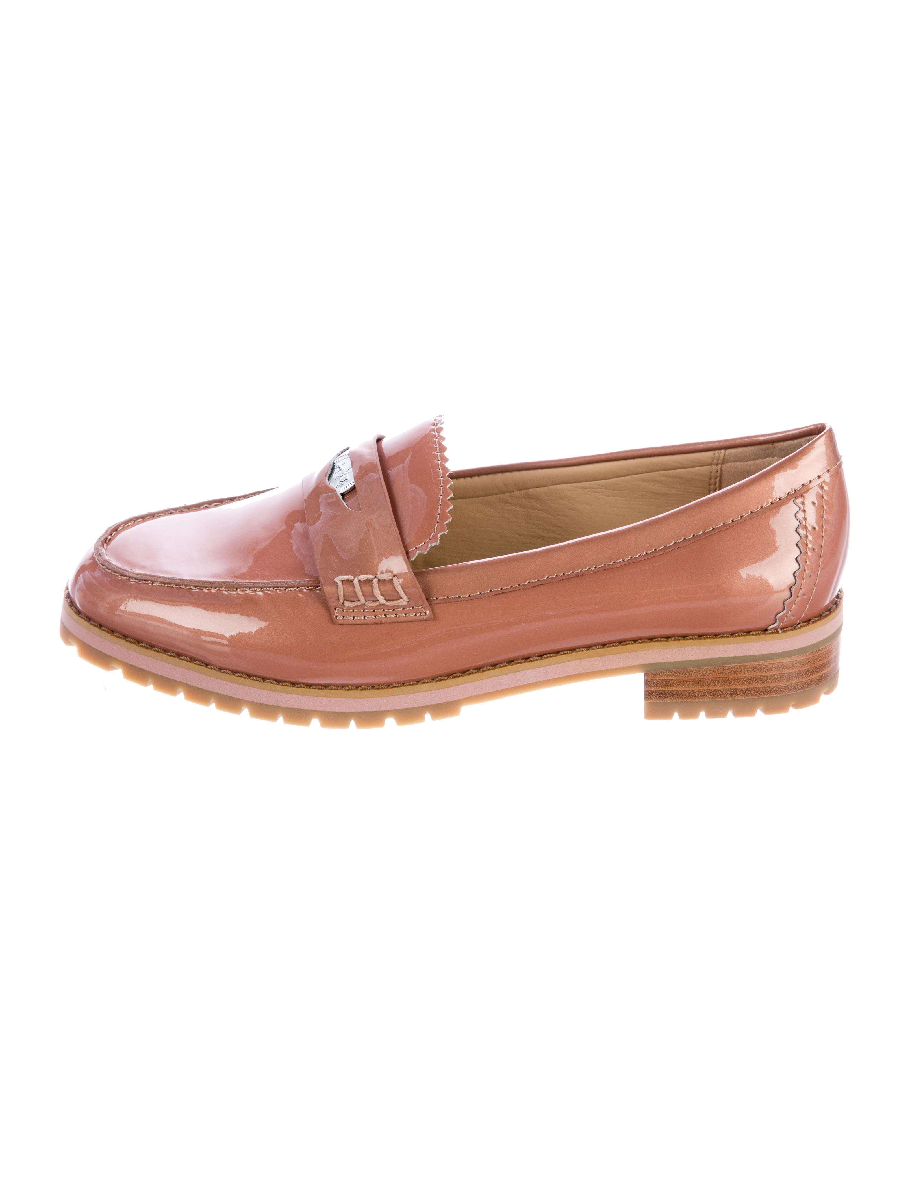 coach patent leather peyton loafers shoes cch20845