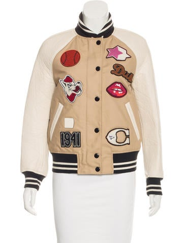 Coach Leather-Accented Varsity Jacket None