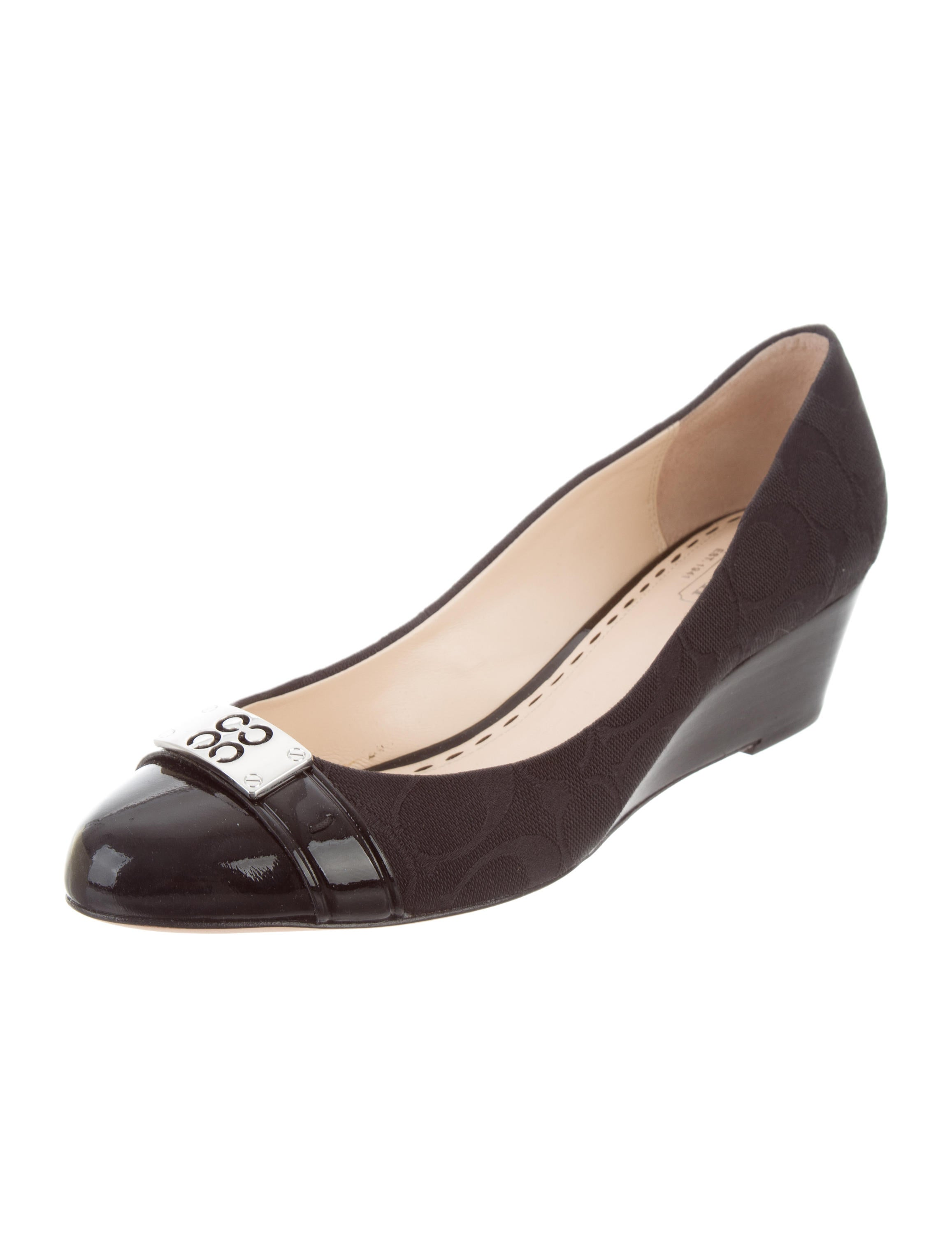 coach meryl cap toe wedges shoes cch21298 the realreal