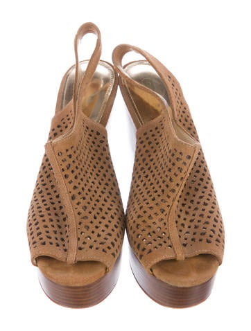 Coach Suede Slingback Wedge Sandals - Shoes - CCH21322 ...