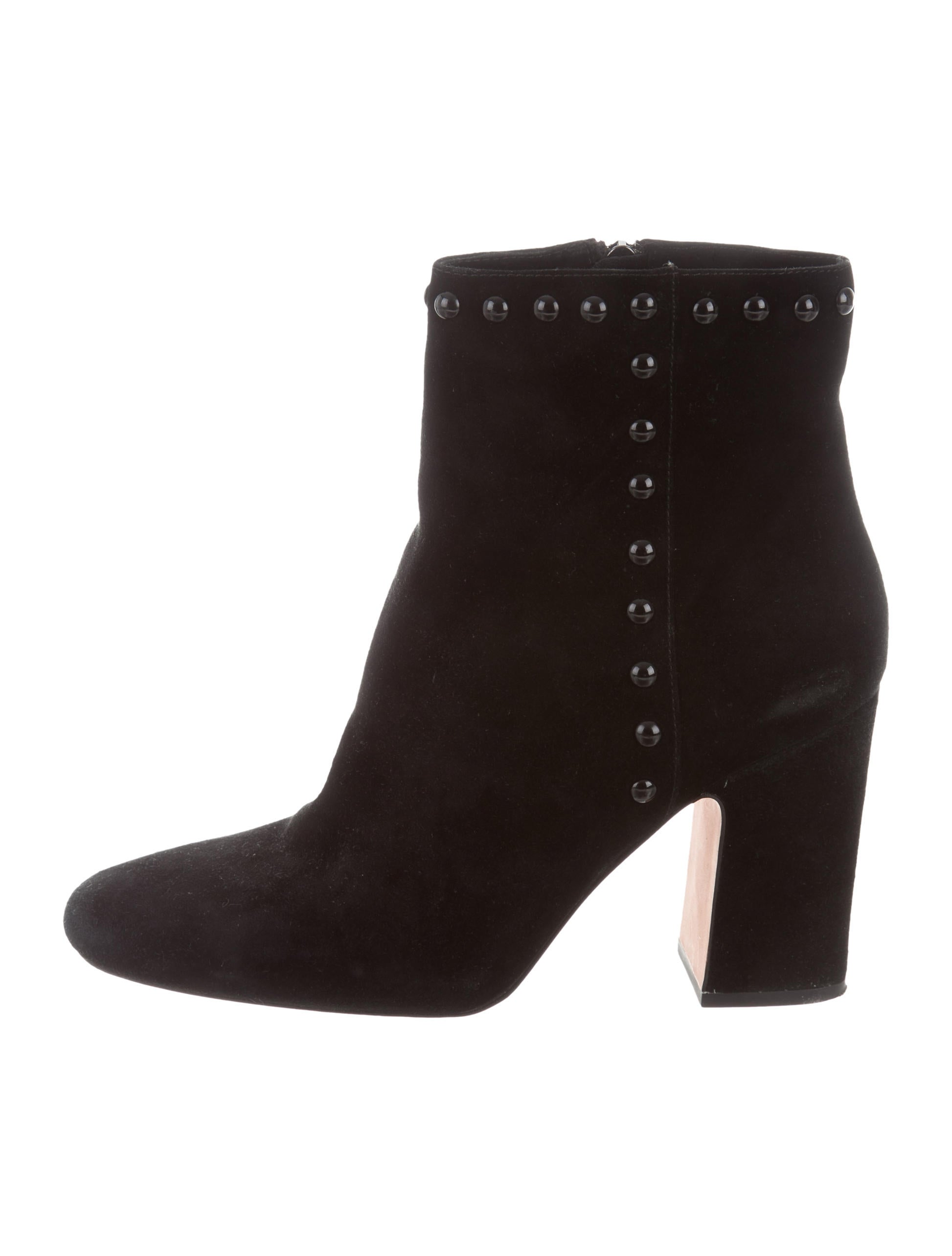 coach suede studded ankle boots shoes cch21467 the