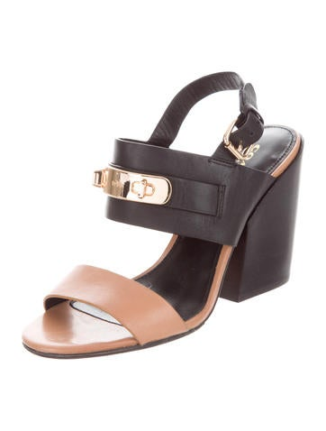 Coach Leather Slingback Sandals cheap new arrival vkSrI