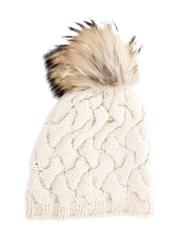 Coach Fur-Trimmed Wool Beanie None