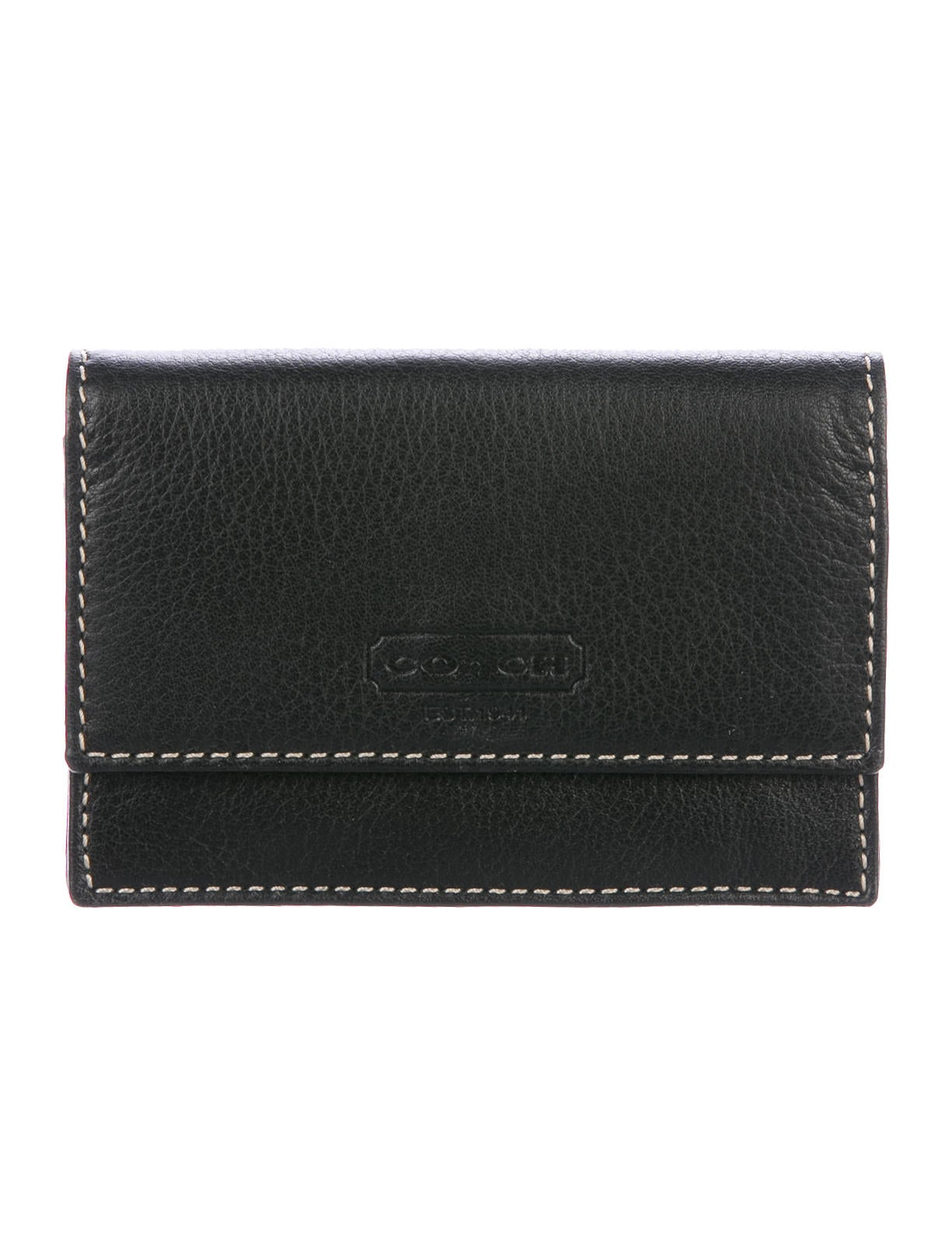 Coach Grained Leather Business Card Holder w/ Tags - Accessories ...