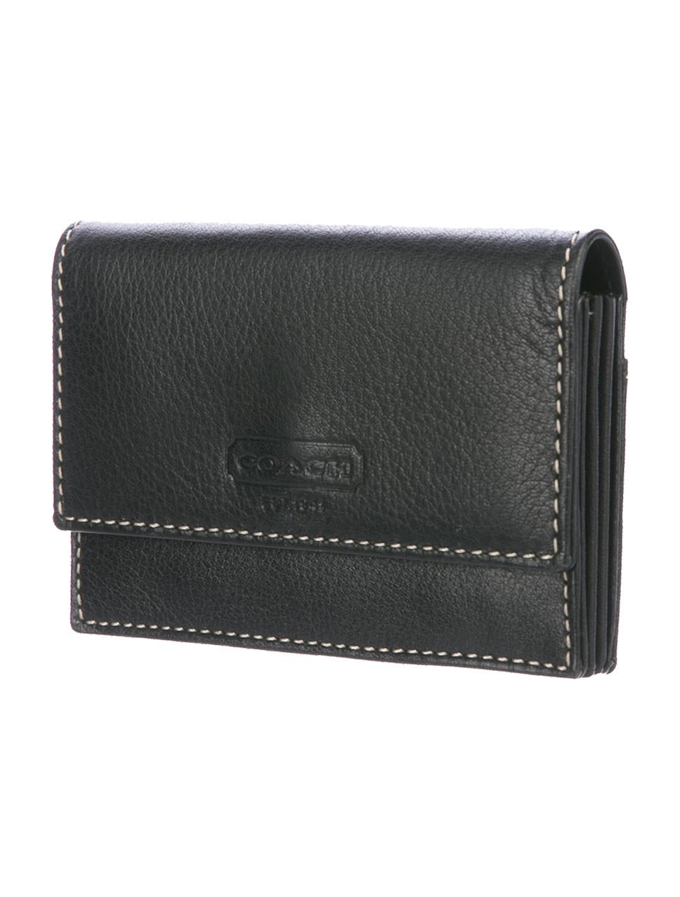 Coach grained leather business card holder w tags for Business card holder coach