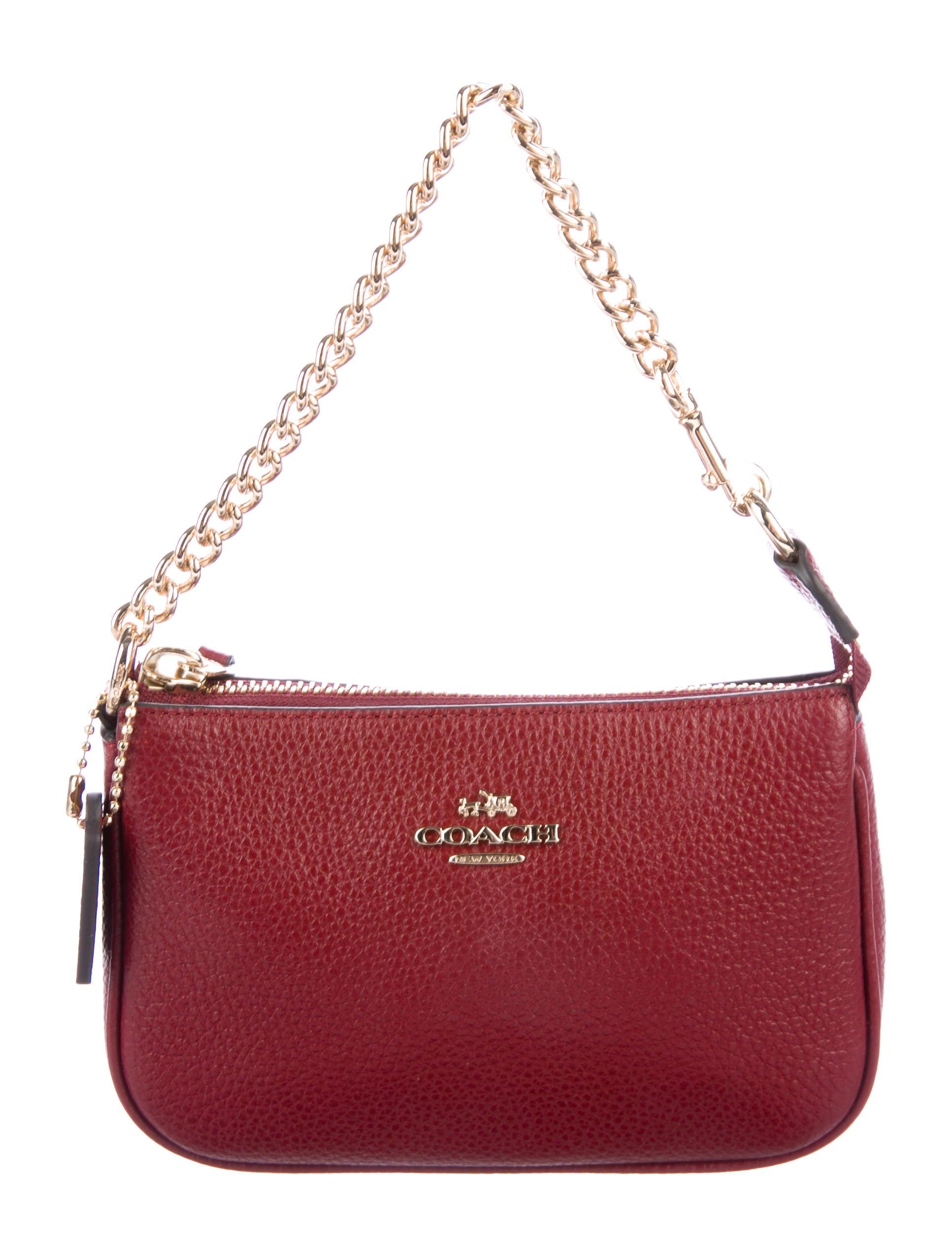 Coach Mini Leather Pochette - Handbags - CCH23487 | The RealReal