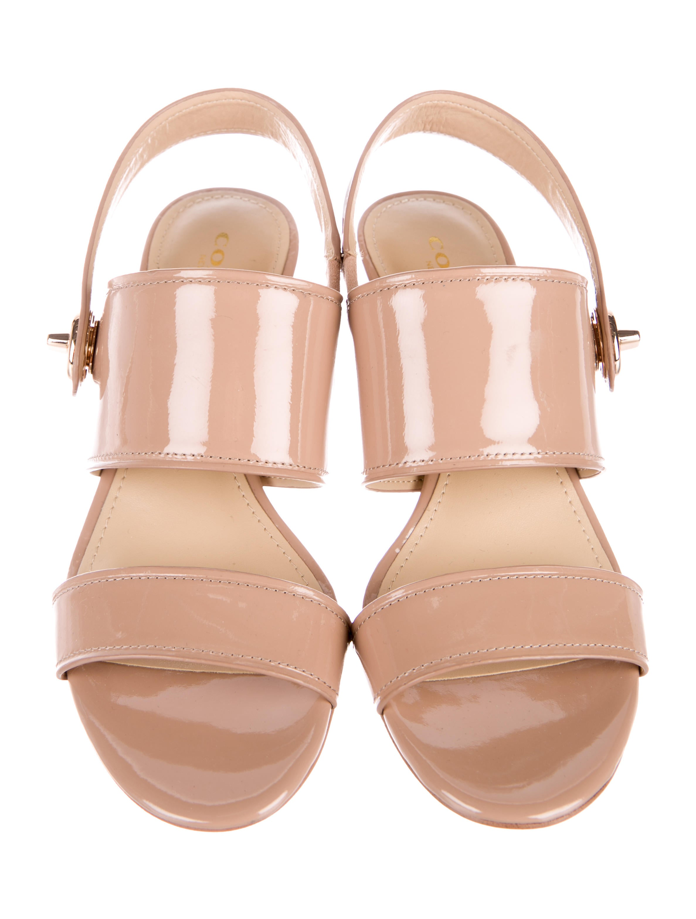 Coach Marla Patent Leather Sandals w/ Tags best sale for sale ssLmRI