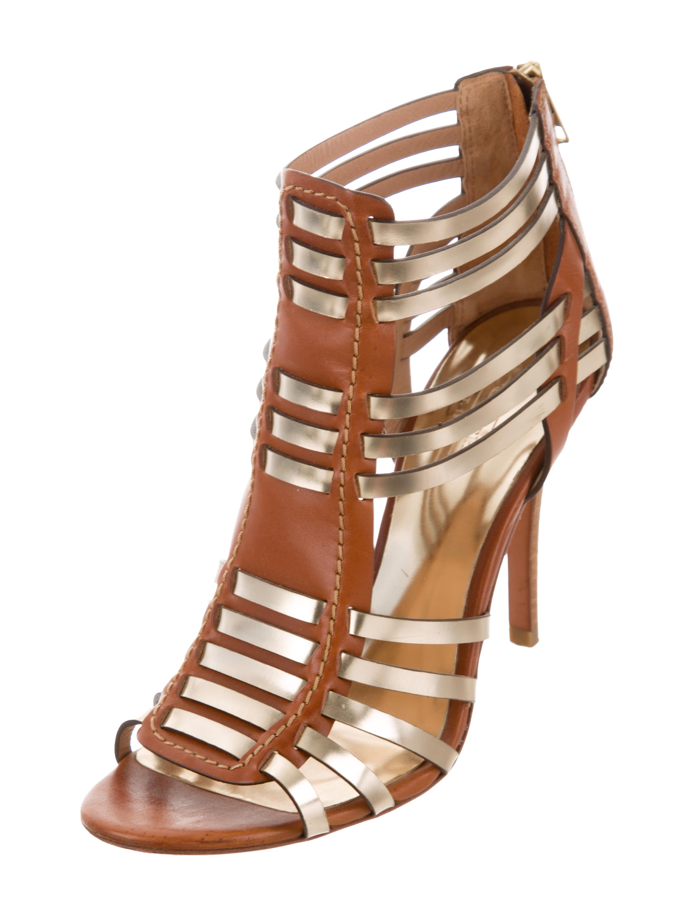 Coach Metallic Cage Sandals for sale bjIJRqKbG