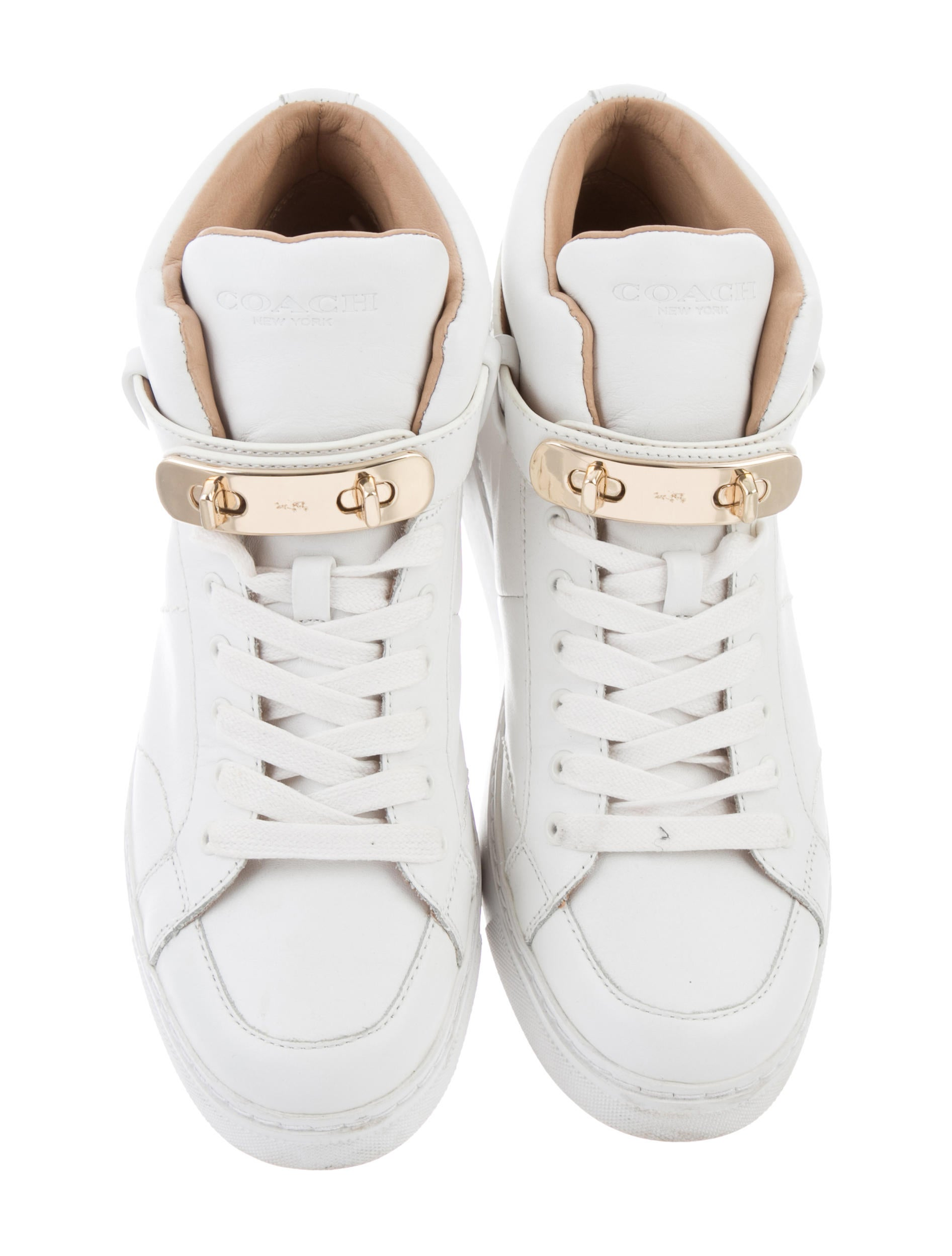 cheap sale in China reliable cheap price Coach Round-Toe High-Top Sneakers free shipping sast wK2rdUKbIG