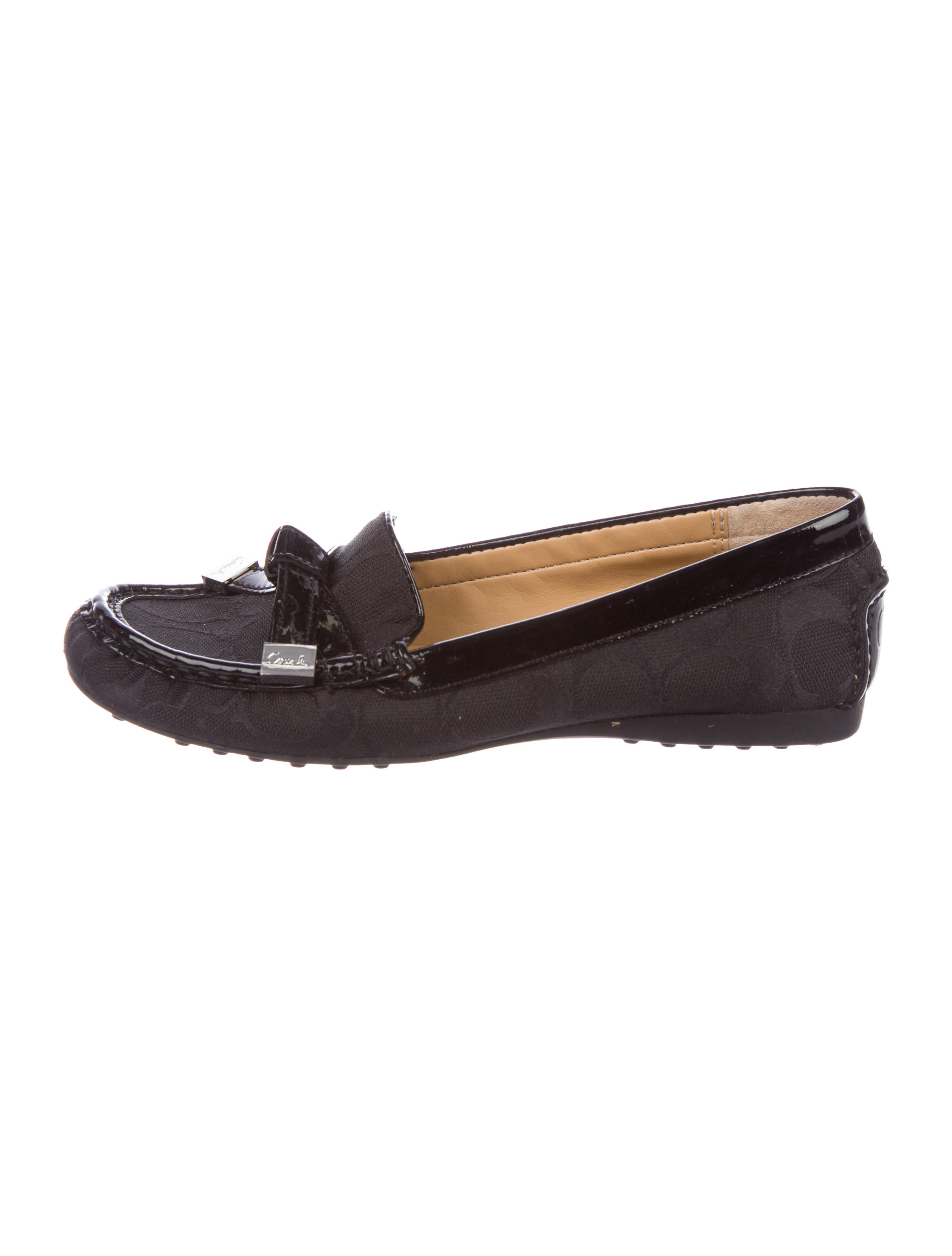 Coach Bow Round-Toe Loafers clearance 2014 new wzA8uY