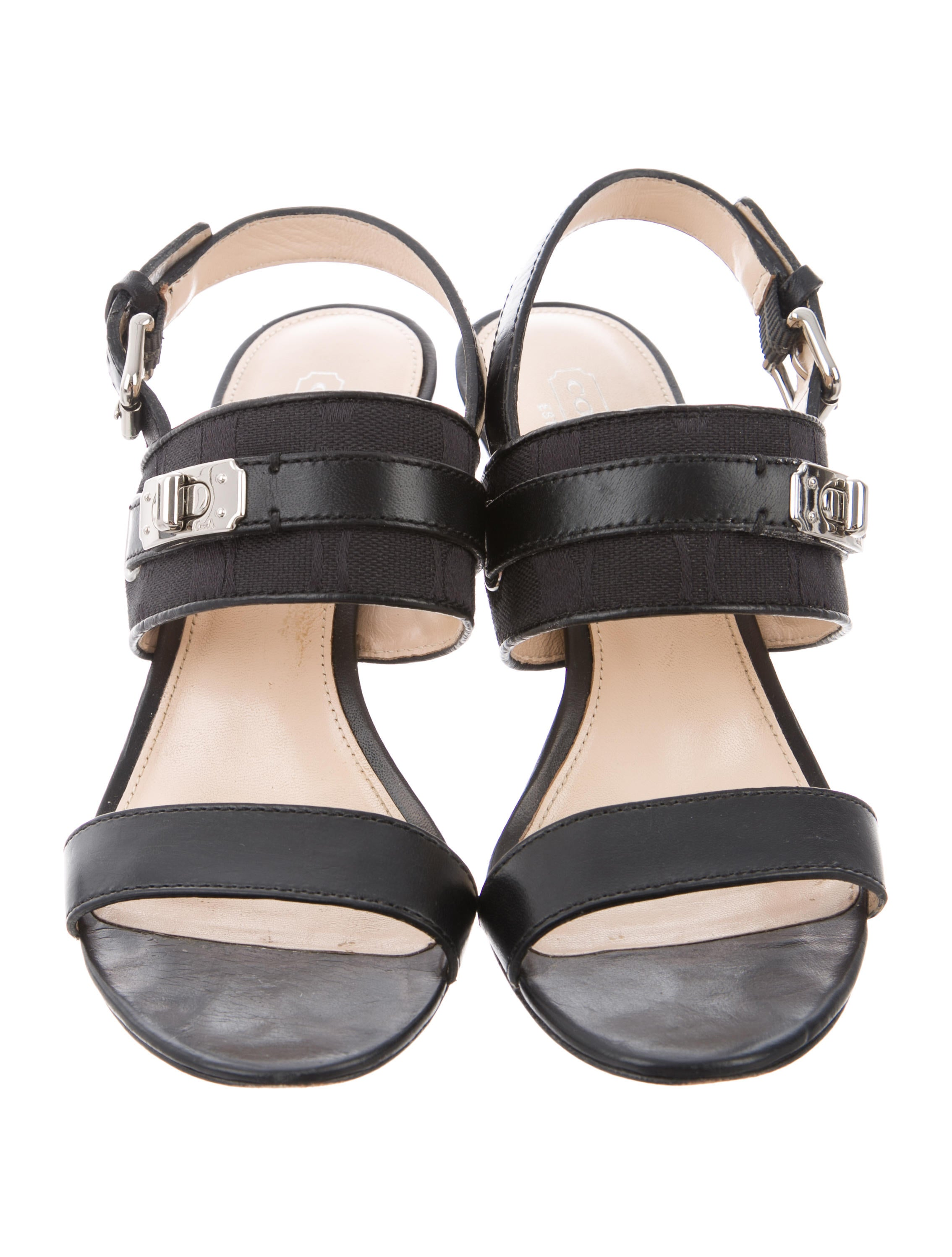 cheap sale low shipping fee Coach Raya Signature Sandals outlet many kinds of free shipping huge surprise 4DugF