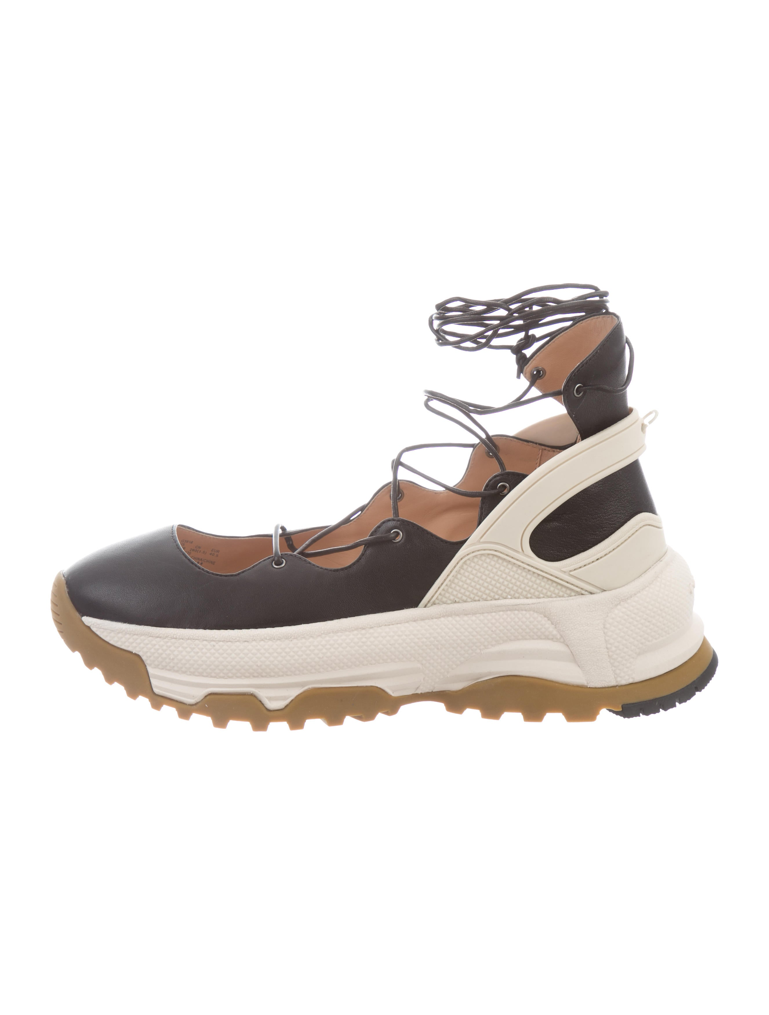 Coach Lace-Up Ballerina Sneakers w