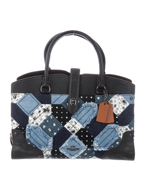 Coach Canyon Quilt Mercer Tote Blue