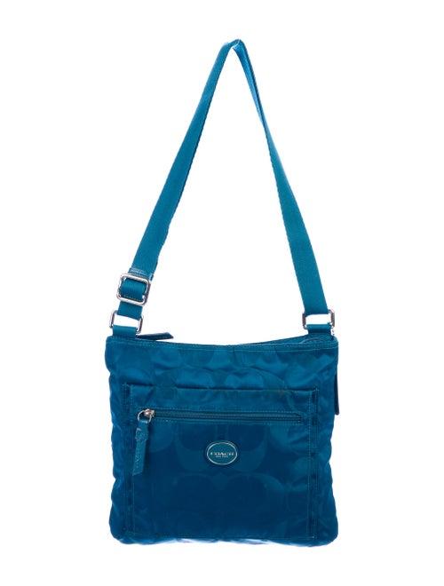 Coach Vintage Nylon Messenger Bag Blue