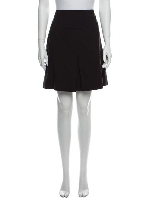 Coach Pleated Accents Knee-Length Skirt Black