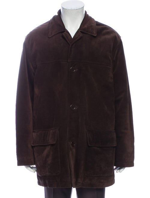 Coach Leather Coat Brown