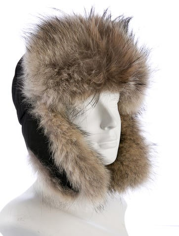 canada goose fur trapper hat