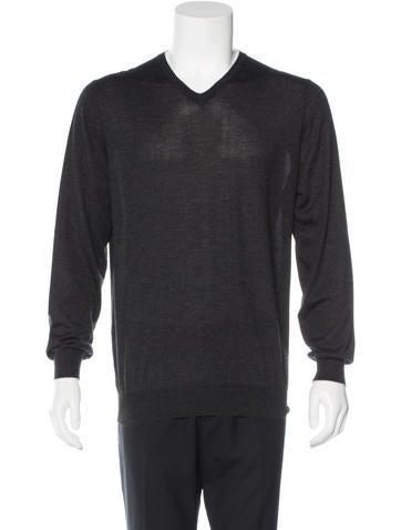 Cesare Attolini Cashmere V-Neck Sweater None