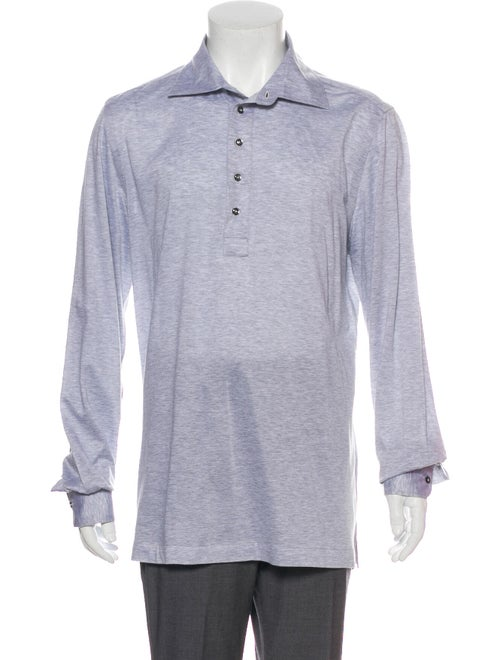 Cesare Attolini Knit Polo Shirt grey