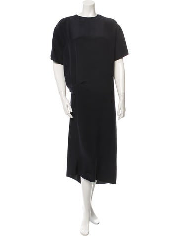 Cédric Charlier Silk Shift Dress