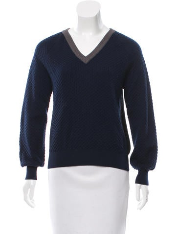 Cédric Charlier Virgin Wool V-Neck Sweater None