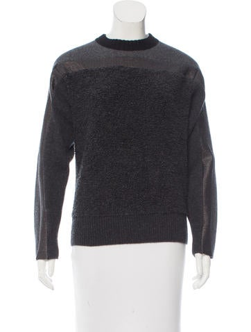 Cédric Charlier Coated Wool Sweater None