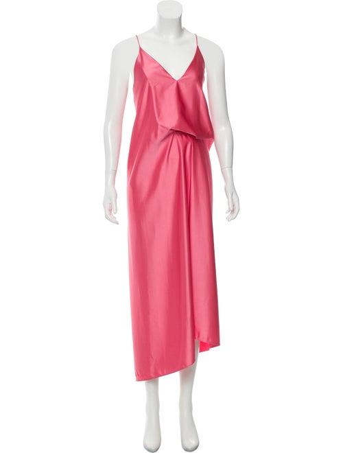Cédric Charlier Maxi Slip Dress Pink